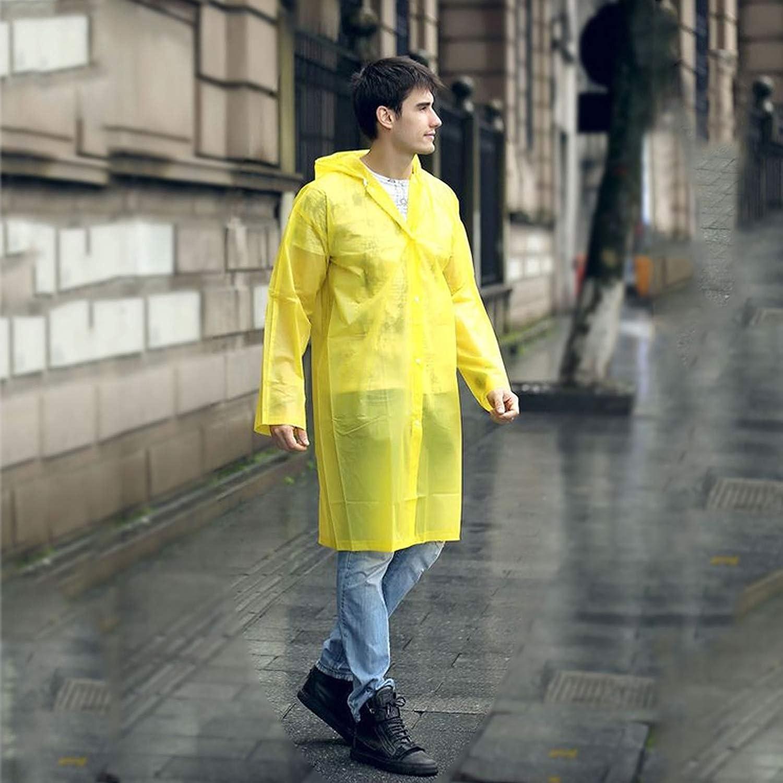 SEA CHANCE Regenponcho Eva Regenjacke Unisex Regenmantel Wiederverwendbar Wasserdicht Atmungsaktiv Wandern Regencape F/ür Damen und Herren Erwachsene