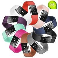 Fit-power Bracelet de remplacement avec boucle en métal pour Fitbit Charge 2 de suivi de la fréquence cardiaque Tracker non compris