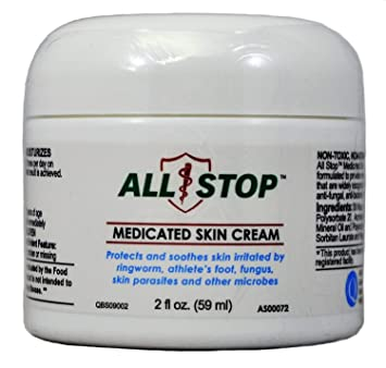Medicated Skin Cream [2 oz] Antifungal Cream for Jock Itch, Ringworm,  Athlete's Foot, Wounds, Skin Rashes