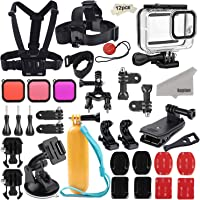 Kupton Accessories Kit Bundle for GoPro Hero 8 Black, Waterproof Housing + Sleeve Case + Filters + Head Chest Strap + Suction Cup Mount + Bike Mount + Floating Grip Accessory Set for GoPro Hero8 …