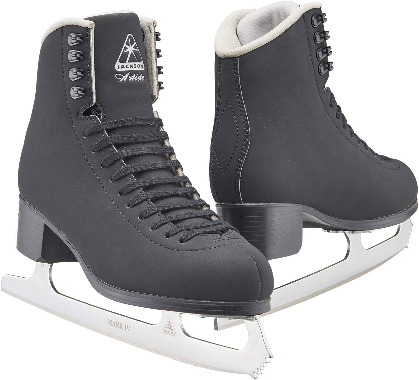 Jackson Ultima Artiste Figure Ice Skates for Womens, Girls, Mens and Boys in White and Black Colors – Improved, JUST LAUNCHED 2019