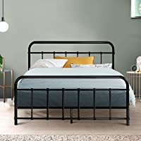 Double Bed Frame, Metal Bed Base, Black