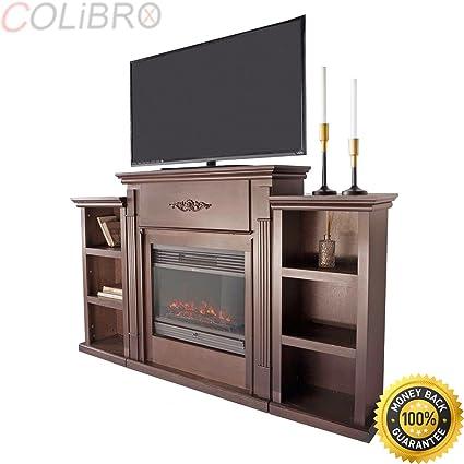 Amazoncom Colibrox Home Elegant Espresso W Electric Fireplace