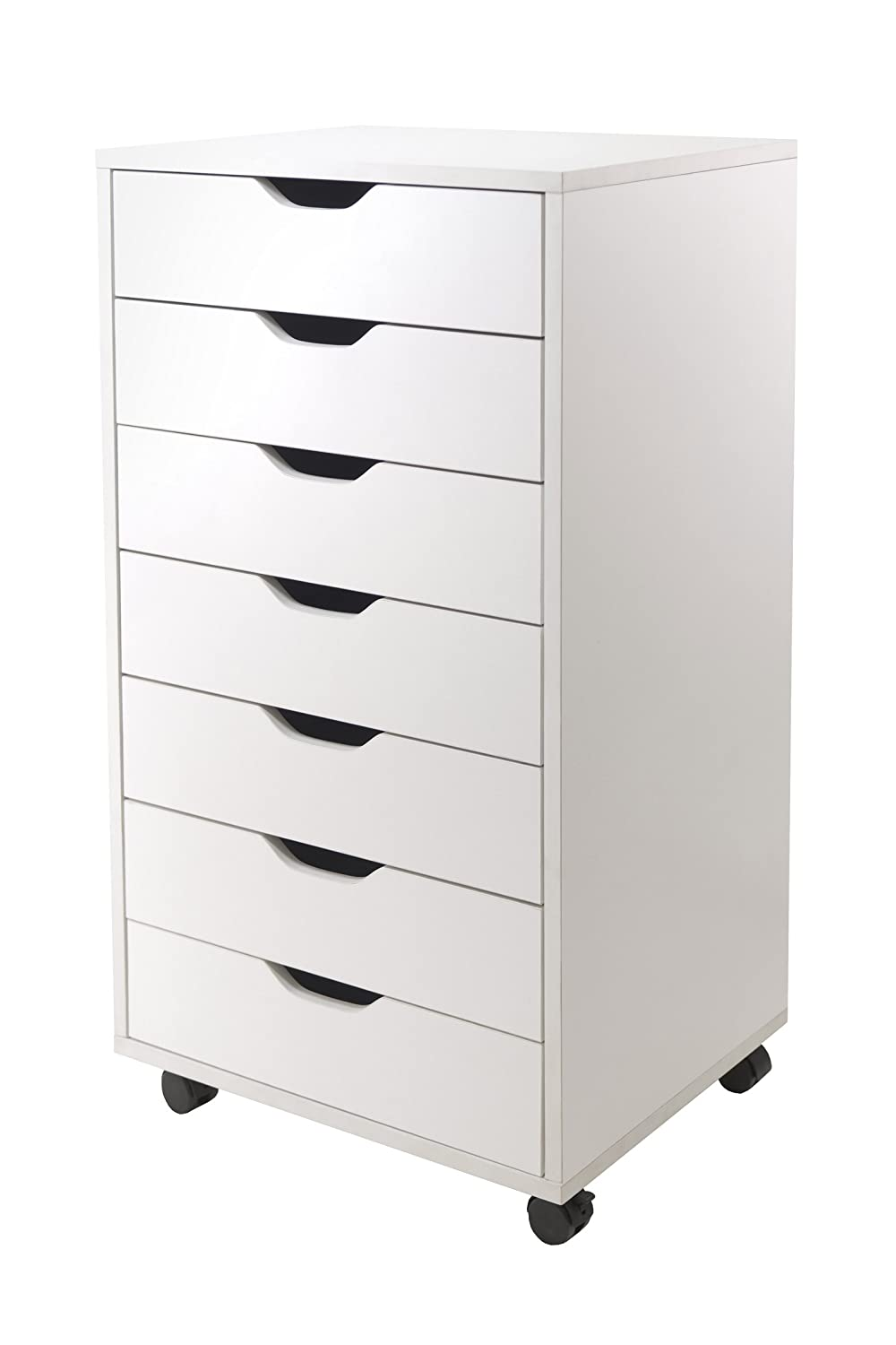 Amazon.com Winsome Halifax Cabinet for Closet/Office 7 Drawers White Kitchen u0026 Dining  sc 1 st  Amazon.com & Amazon.com: Winsome Halifax Cabinet for Closet/Office 7 Drawers ...