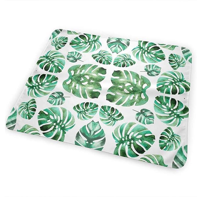Amazon.com: Cambiador portátil para bebé, hojas de palma ...