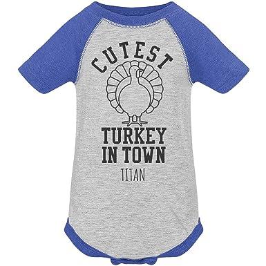 Amazoncom Titan Cutest Turkey In Town Infant Vintage Raglan
