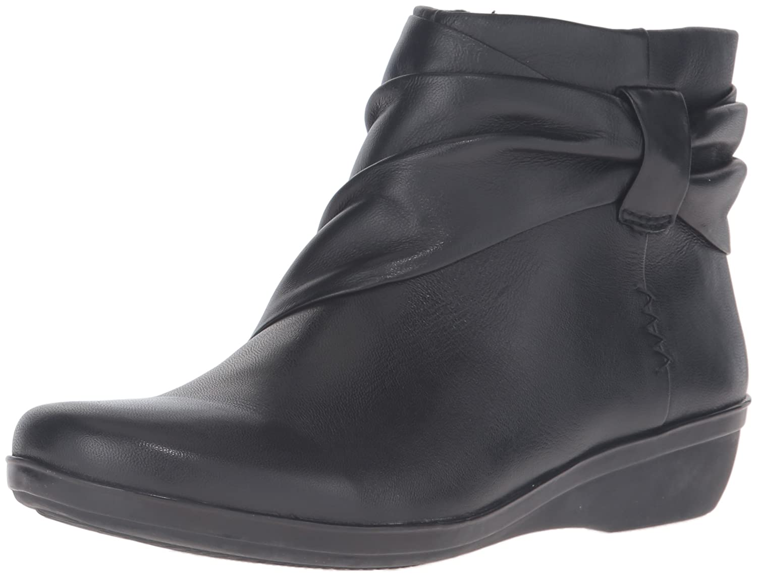 CLARKS Women's Everlay Mandy Boot B0196W8KH2 9 B(M) US|Black Leather