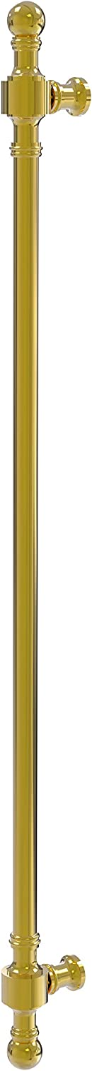 "Allied Brass RW-3/18 Retro Wave Collection 18 Inch Refrigerator Appliance Pull, 18"", Polished Brass"