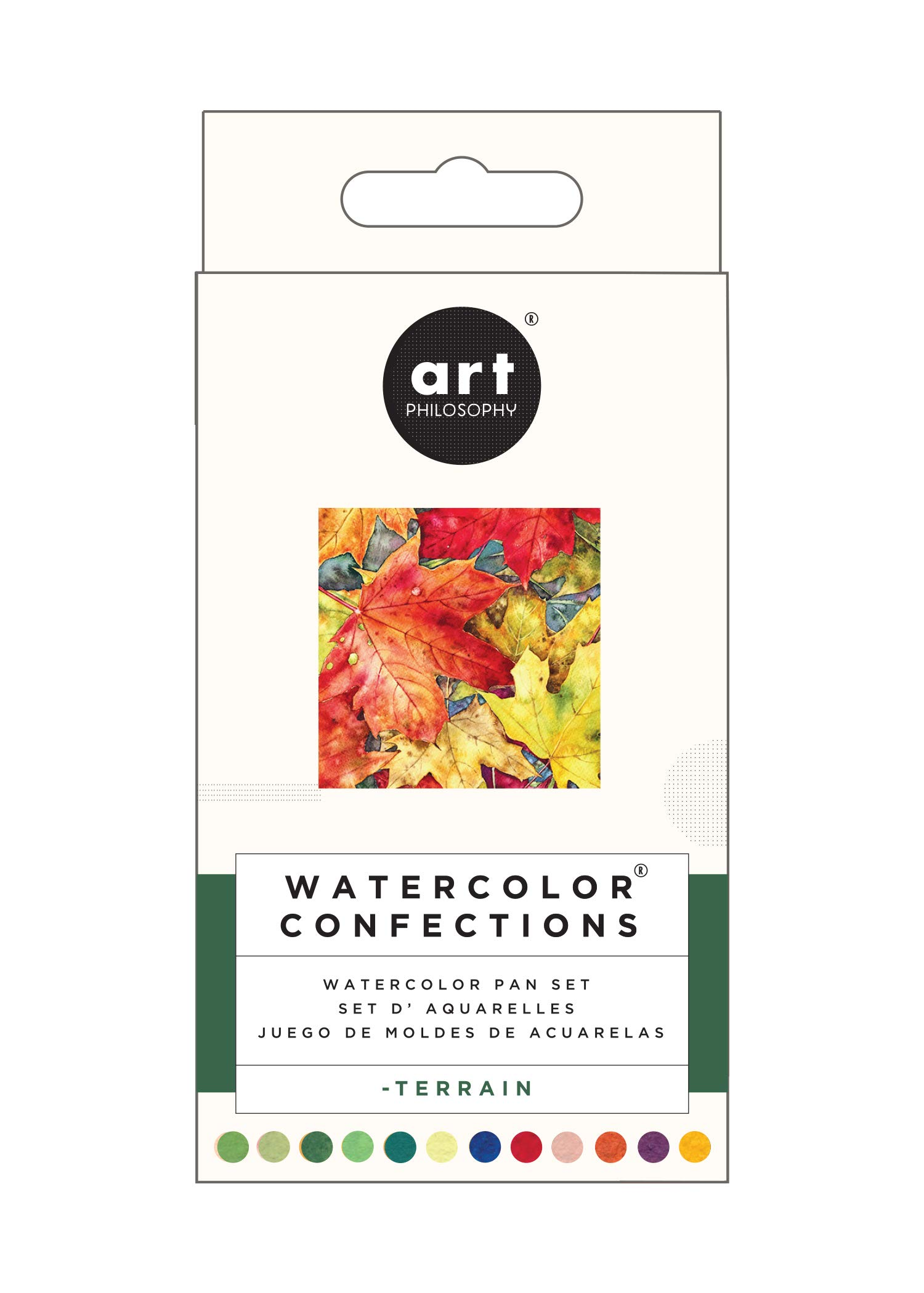 Prima Marketing 639785 Prima Confections Watercolor Pans 12/Pkg-Terrain by Prima Marketing