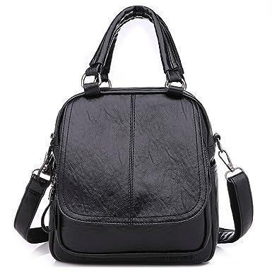 Sonnena Womens Leather Backpack School Rucksack - Girls Small College  Shoulder Satchel Travel Shoulder Bags Vintage Retro Elegant Holiday Purse  Tote Bag ... 176c512052f56
