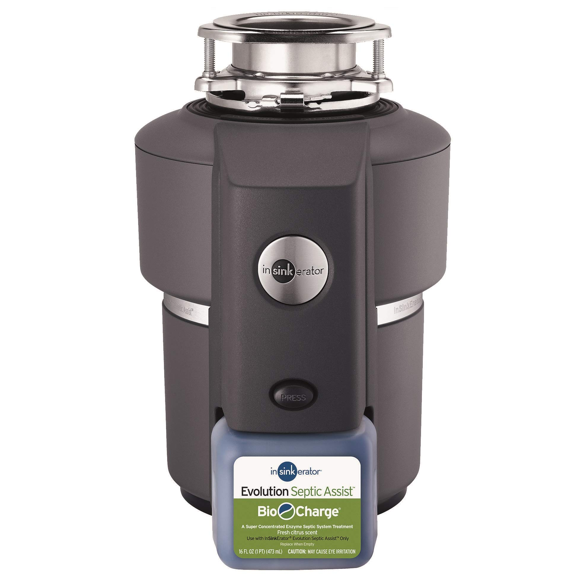 InSinkErator Garbage Disposal, Evolution Septic Assist, 3/4 HP Continuous Feed by InSinkErator