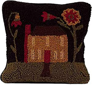 """Home Collection by Raghu Homecoming Pillow, 14 by 14"""", Black and Multicolor"""