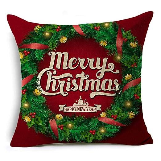 cojin Navidad Almohada Navidad Funda de Almohada de Navidad ...