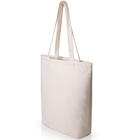 2c913259b30 Heavy Duty and Strong Large Natural Canvas Tote Bags with Bottom Gusset (25  Pack +