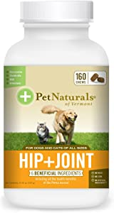 Pet Naturals of Vermont - Hip + Joint for Dogs and Cats, 160 Bite-Sized Chews