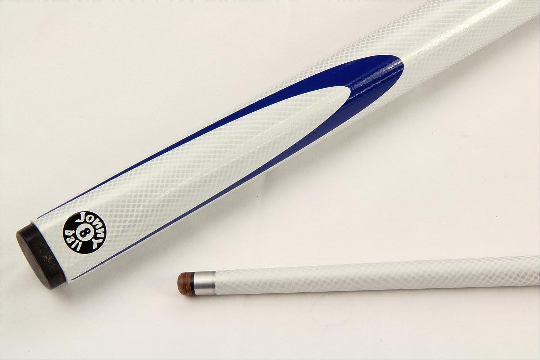 Jonny 8 ball NEON BLUE INFERNO 2pc Graphite Pool Snooker Cue /& BLUE SOFT CASE