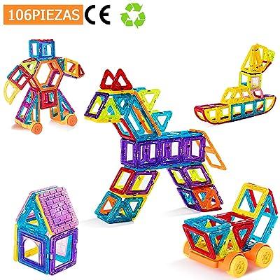 COSTWAY 160 Piezas Bloques de Construcción Magnéticos para Niños Creativos Educativos Juguete: Juguetes y juegos