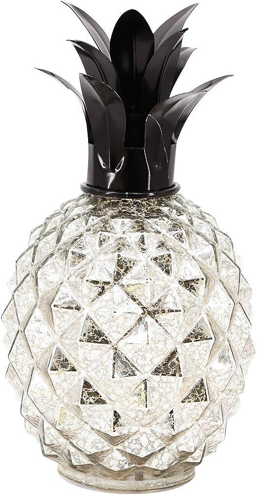 Mercury Glass Pineapple Table Lamp Bedroom Night Light Living Kids Room Gift