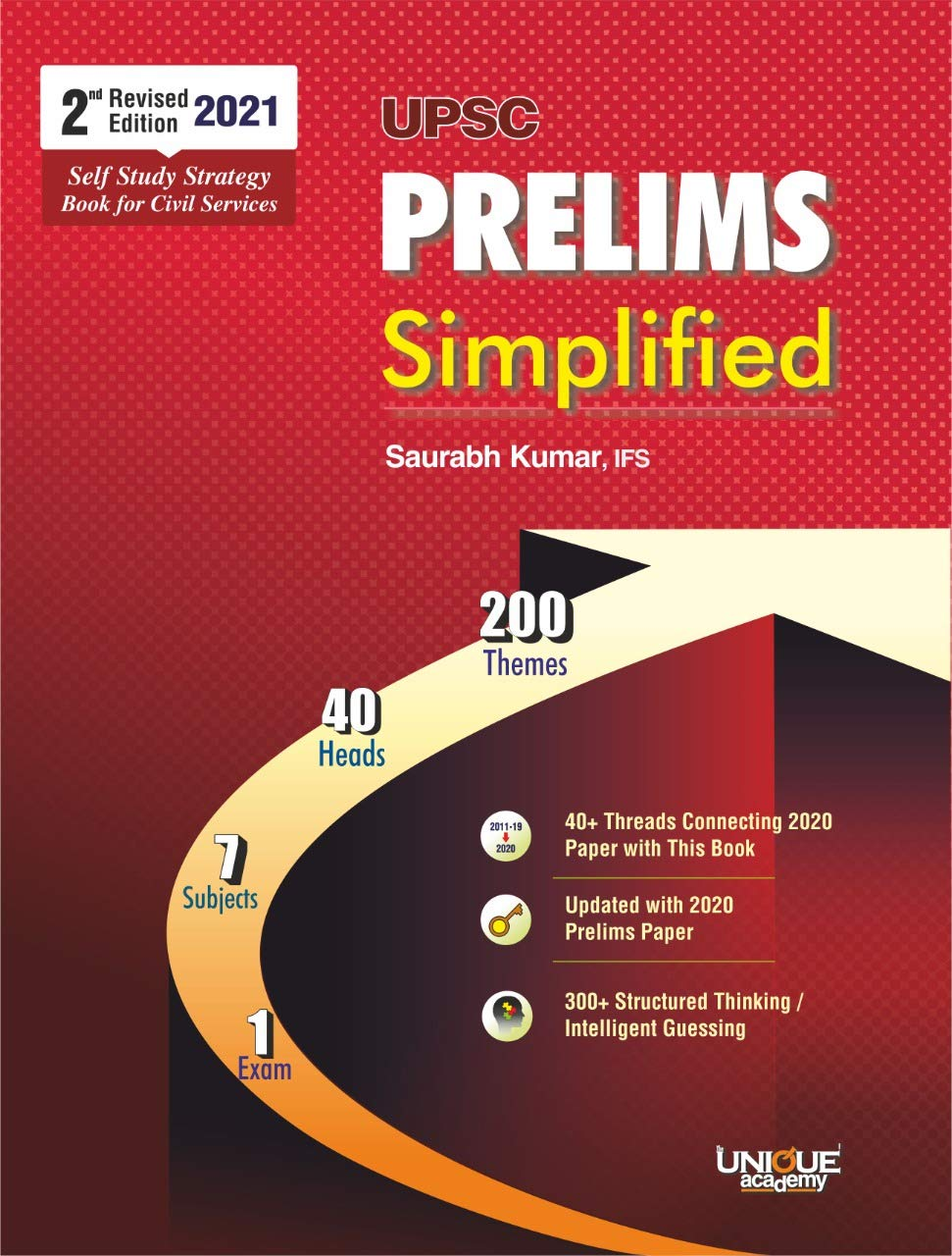 Unique UPSC PRELIMS Simplified 2nd edition : Self Study Strategy book for Civil Services Prelims