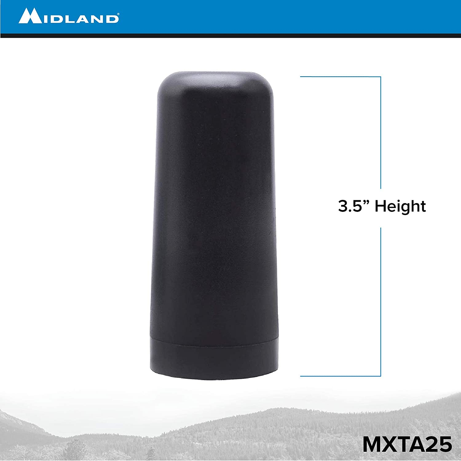 Works with Midland MicroMobile MXT105 Midland 3 dB Gain Ghost Antenna with NMO Connection MXT275 MXT400 MXT115