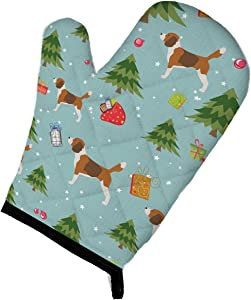 Caroline's Treasures BB4834OVMT Christmas Beagle Oven Mitt, Large, multicolor