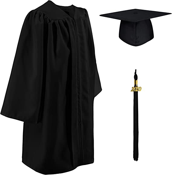 CHGD Preschool and Kindergarten Graduation Cap and Gown with Tassel Plus 2020+2021 Year Charm