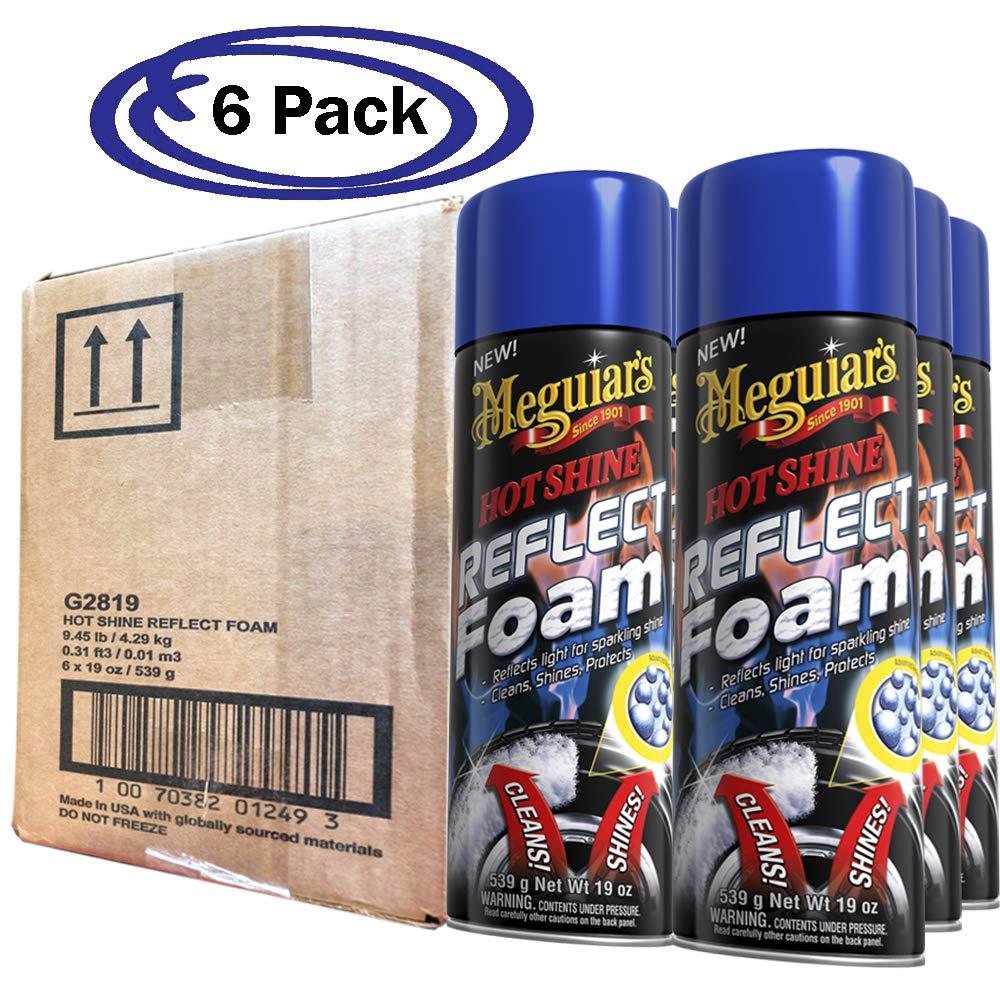 Meguiar's G2819 Hot Shine Reflect Foam, 15 oz. (6 Pack)
