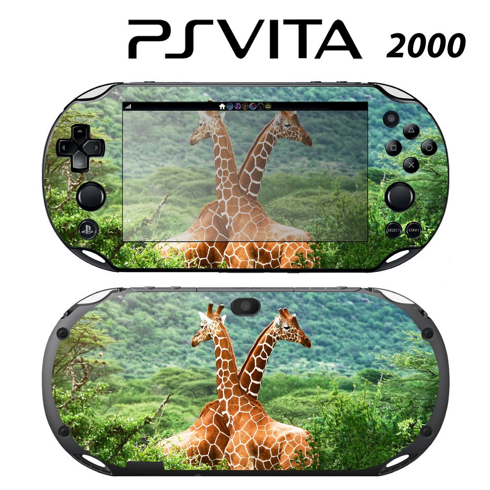 Decorative Video Game Skin Decal Cover Sticker for Sony PlayStation PS Vita Slim (PCH-2000) - Giraffe