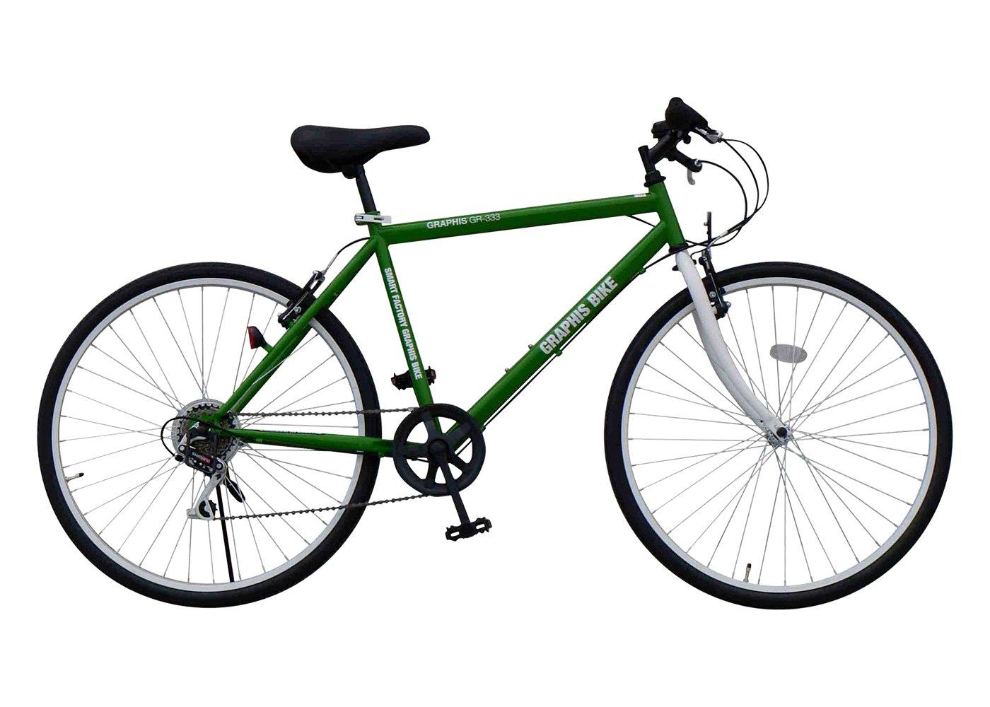 GRAPHIS(グラフィス) クロスバイク 26インチ 6段変速 GR-333 B00HVTJF6S グリーン グリーン