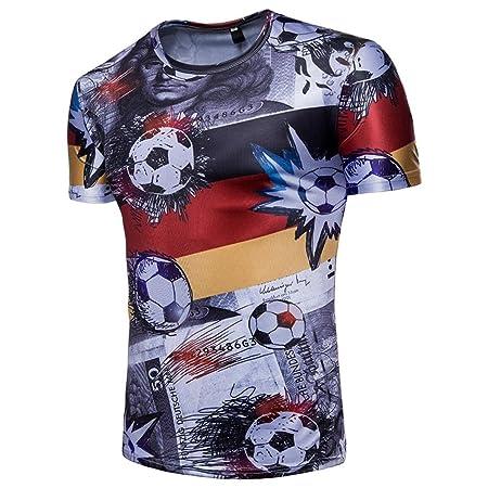 LuckyGirls Camisetas Hombre Originales Estampado de Fútbol Verano Manga Corta Camisas para Copa Mundial FIFA 2018 Moda Polos Casual Remera: Amazon.es: ...