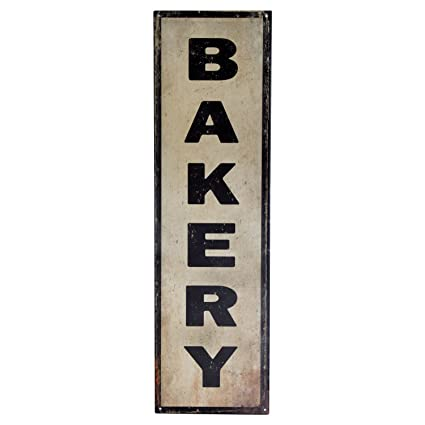 Handcrafted Vintage Bakery Steel Sign 36quot X 10quot Antique Bake Shop