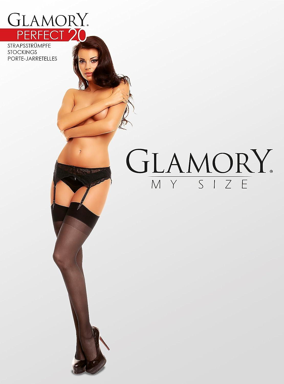 XX-Large 20 DEN Taglia Produttore:52-54 Bianco Donna GLAMORY Perfect 20 Calze per Reggicalze