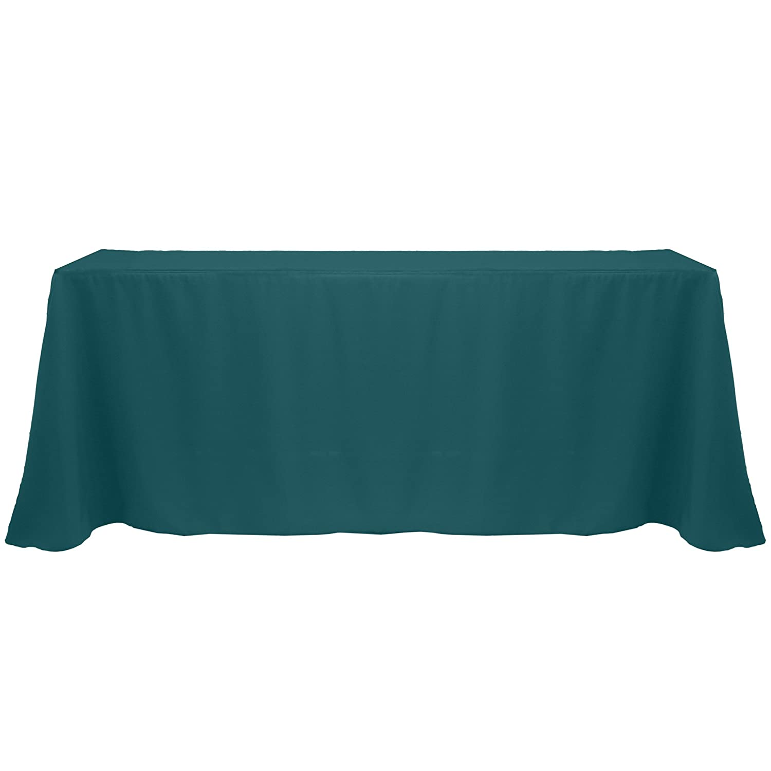 Ultimate Textile 90 x 132-Inch Rectangular Polyester Linen Tablecloth Teal