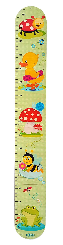 Meßlatte Puzzle Käfer & Freunde Skala von ca. 66 - 152 cm Maße: ca. 88 x 13 cm NEU Erzgebirge Kindermesslatte Maßband Hess-Spielzeug