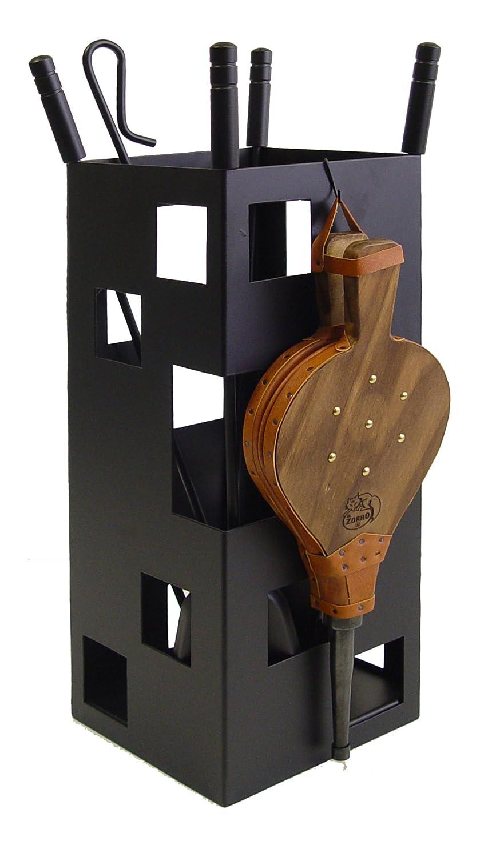 IMEX EL ZORRO 10042 - Juego para Chimenea, Cuadrado (Fuelle, 50 x 20 x 20 cm) útiles Color Negro