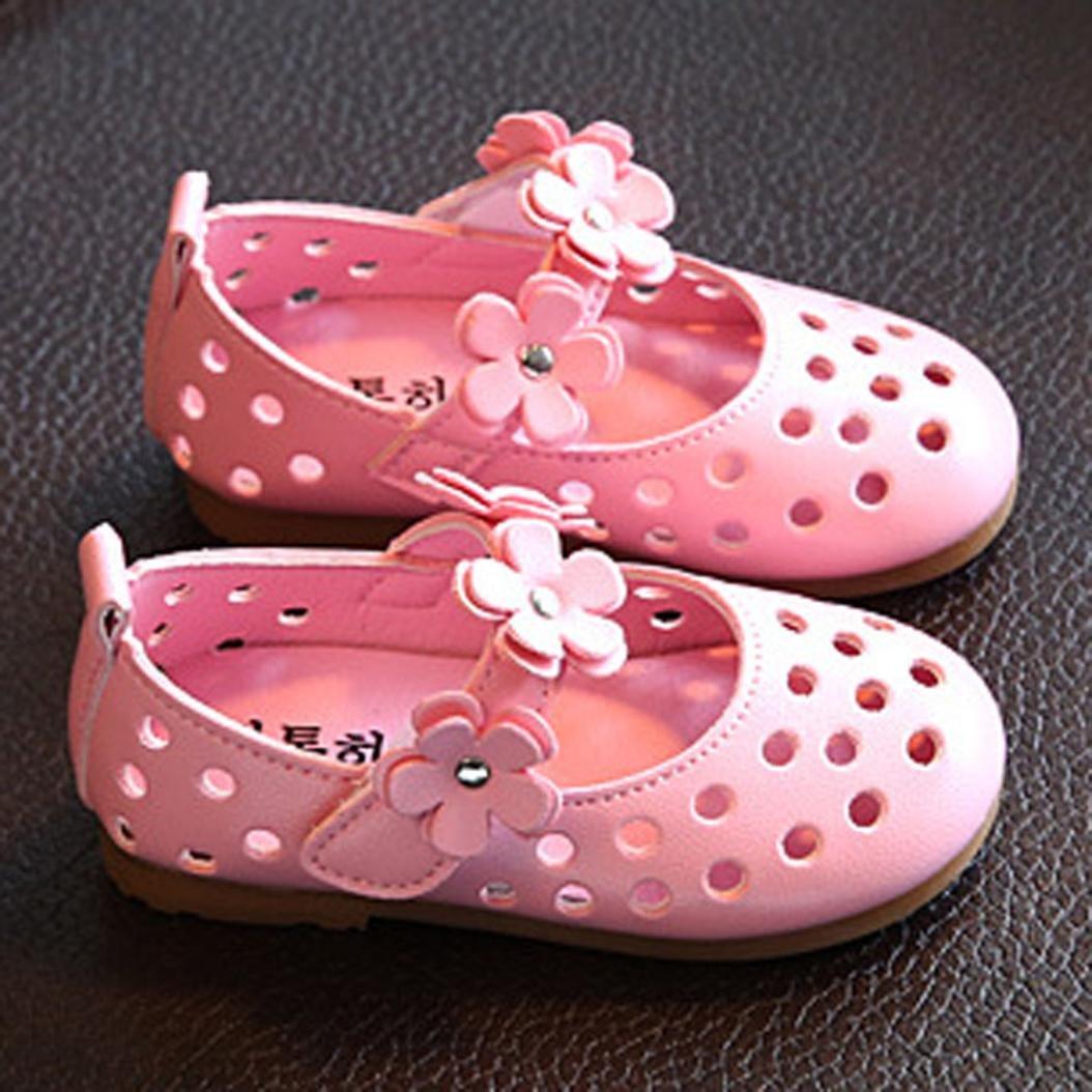 Voberry/® B/éb/é Filles Mary Jane Chaussures D/Ét/é Mode Sandales Chaussures Casual Chaussures Sneaker Anti-D/érapant Semelle Souple Chaussures