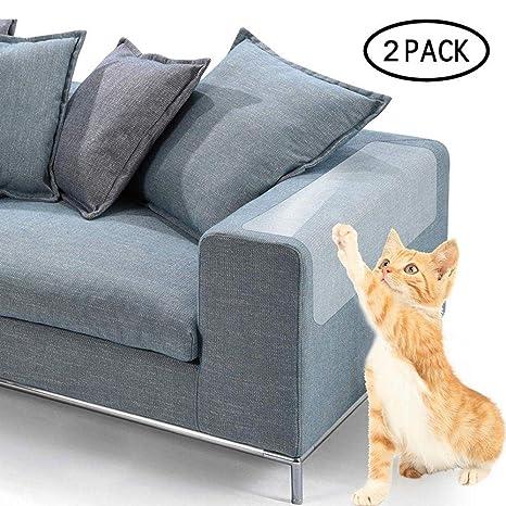 eFUture - Juego de Protectores de sofá de plástico Transparente Gatos, protección contra arañazos,