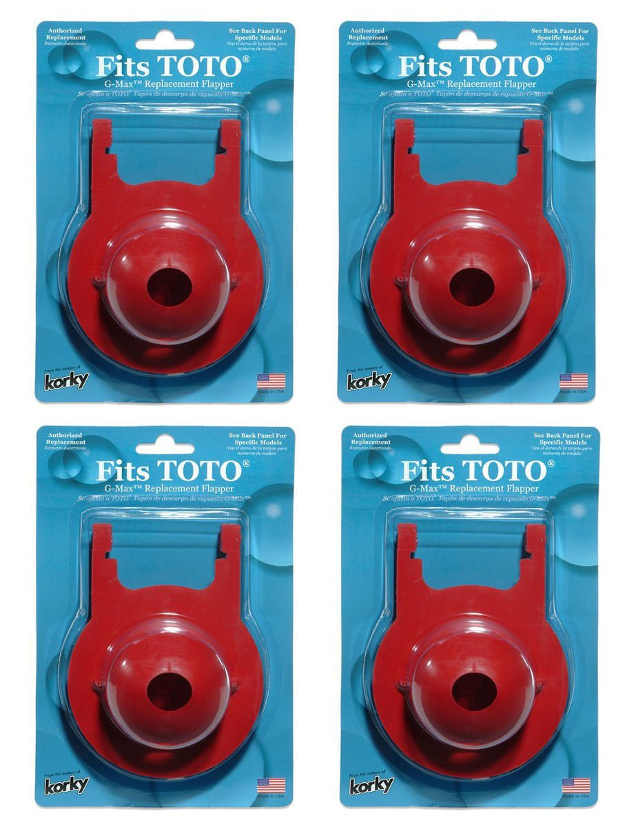 Korky 2021BP G-Max Flapper For TOTO Toilet Repairs, 3-Inch (4 Pack ...