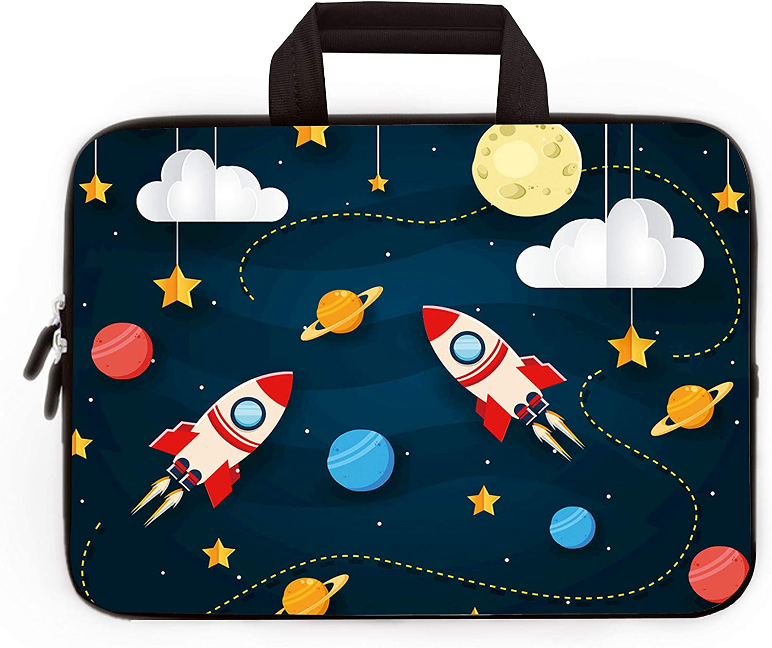 "11"" 11.6"" 12"" 12.1"" 12.5"" inch Laptop Carrying Bag Chromebook Case Notebook Ultrabook Bag Tablet Cover Neoprene Sleeve Fit Apple Macbook Air Samsung Google Acer HP DELL Lenovo Asus (Cool Rocket)"
