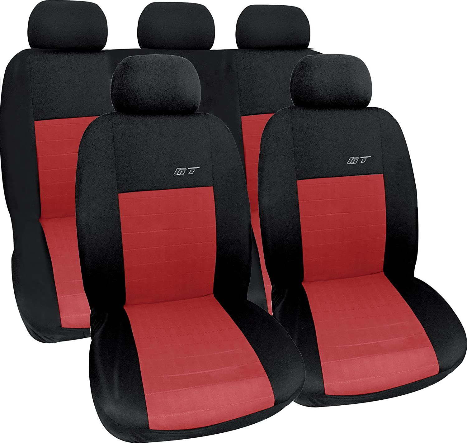 black Car seat covers Vauxhall Insignia full set leatherette red