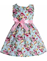 Fubin Kid Floral Cotton Girls Dresses Summer Girl Clothes