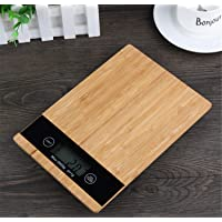 Digital Scales Bamboo 23 * 26 * 2.2cm Kitchen Dough Scraper High Accuracy Cooking Food Baking Multifunction Without Battery