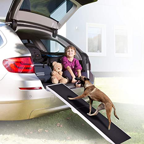 15inch Wide Portable Folding Skidproof Pet Ramp for Car//SUV//Truck Bonnlo Heavy-Duty Aluminum Dog Car Ramp for Large Dogs up to 250lbs