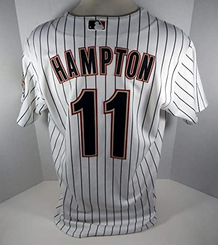 competitive price 2d6d8 5ff52 2009 Houston Astros Mike Hampton #11 Game Used White ...