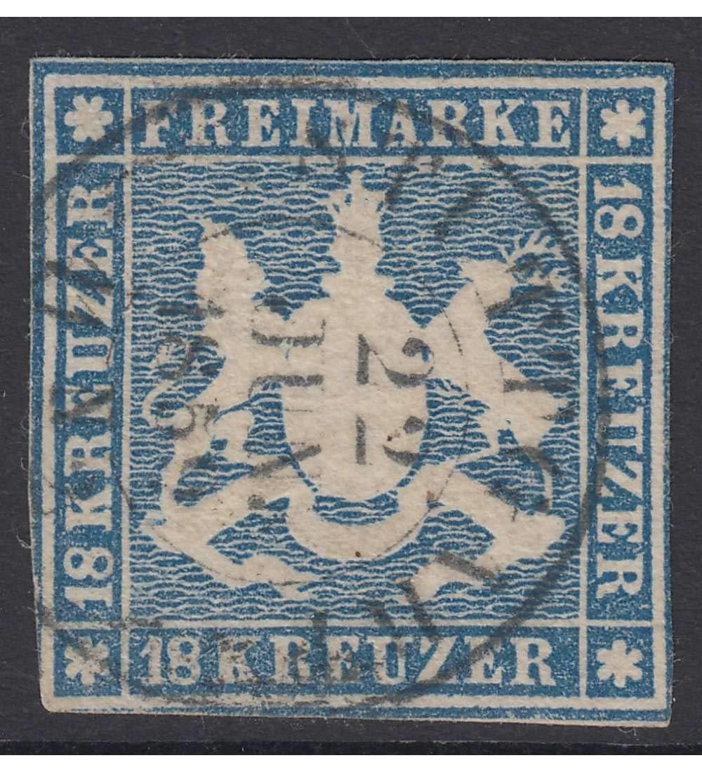 Goldhahn Württemberg Nr. 10b gestempelt geprüft + signiert Briefmarken für Sammler