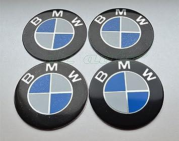 DZTRADE 4 pegatinas para tapacubos de 60 mm con el distintivo de la marca BMW para el centro del eje de las llantas del coche, color azul: Amazon.es: Coche ...