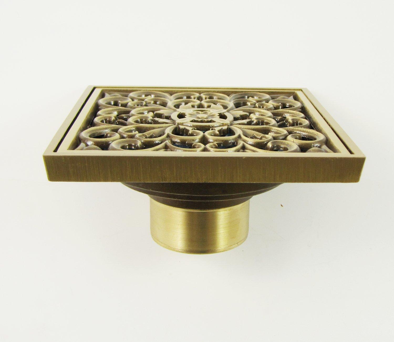 European Style Garden Geschnitzt Messing Bodenablauf Badezimmer Duschrinne 50//70# 203