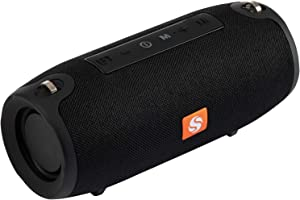 Extra Loud Portable Bluetooth Speakers - Wireless and Waterproof - Crystal Clear Hd Stereo Sound and Deep Bass Subwoofer with Microphone - for Parties, Travel, Outdoor, Home, Shower - 125 Black