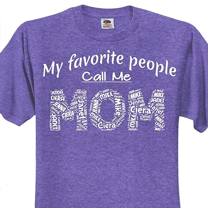 Personalized Mom Wordstream Art T Shirt