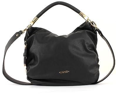 cheap for discount 88e00 5d4a4 LIU-JO LINE AMELIE shoulder bag A64193 black - Woman: Amazon ...